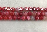 CAA1895 15.5 inches 14mm round banded agate gemstone beads