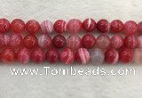 CAA1896 15.5 inches 16mm round banded agate gemstone beads