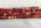 CAA1912 15.5 inches 8mm round banded agate gemstone beads