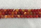 CAA1913 15.5 inches 10mm round banded agate gemstone beads
