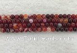 CAA1921 15.5 inches 6mm round banded agate gemstone beads