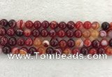 CAA1923 15.5 inches 10mm round banded agate gemstone beads