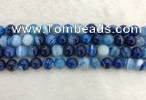 CAA1933 15.5 inches 10mm round banded agate gemstone beads