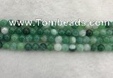 CAA2002 15.5 inches 8mm round banded agate gemstone beads