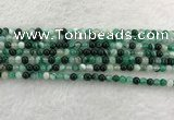 CAA2010 15.5 inches 4mm round banded agate gemstone beads