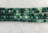 CAA2011 15.5 inches 6mm round banded agate gemstone beads