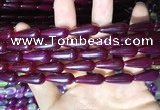 CAA2054 15.5 inches 8*20mm teardrop agate beads wholesale