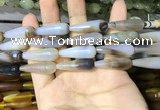 CAA2062 15.5 inches 10*30mm teardrop agate beads wholesale