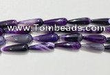 CAA2071 15.5 inches 10*30mm teardrop agate beads wholesale