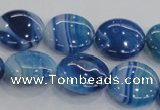 CAA208 15.5 inches 20mm flat round madagascar agate beads
