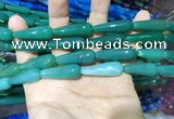 CAA2080 15.5 inches 10*30mm teardrop agate beads wholesale