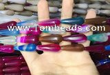 CAA2081 15.5 inches 10*30mm teardrop agate beads wholesale