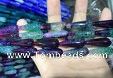 CAA2082 15.5 inches 10*30mm teardrop agate beads wholesale