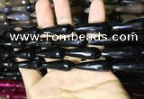 CAA2094 15.5 inches 10*30mm faceted teardrop agate beads