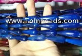 CAA2101 15.5 inches 10*30mm faceted teardrop agate beads