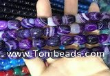 CAA2114 15.5 inches 10*14mm drum agate beads wholesale