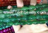 CAA2125 15.5 inches 10*14mm drum agate beads wholesale