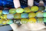 CAA2133 15.5 inches 13*18mm drum agate beads wholesale