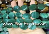 CAA2176 15.5 inches 15*20mm oval banded agate beads wholesale