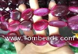 CAA2181 15.5 inches 18*25mm oval banded agate beads wholesale