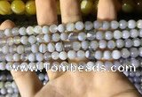 CAA2191 15.5 inches 6mm faceted round banded agate beads