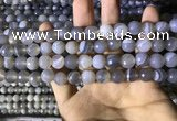 CAA2193 15.5 inches 10mm faceted round banded agate beads