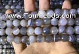CAA2195 15.5 inches 14mm faceted round banded agate beads