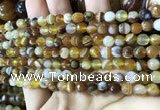 CAA2205 15.5 inches 6mm faceted round banded agate beads