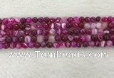 CAA2219 15.5 inches 6mm faceted round banded agate beads