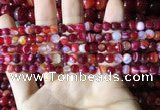 CAA2233 15.5 inches 6mm faceted round banded agate beads
