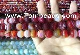 CAA2236 15.5 inches 12mm faceted round banded agate beads