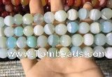 CAA2243 15.5 inches 12mm faceted round banded agate beads