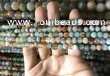 CAA2263 15.5 inches 4mm faceted round banded agate beads