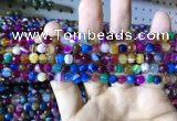 CAA2292 15.5 inches 4mm faceted round banded agate beads