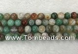 CAA2304 15.5 inches 12mm round banded agate gemstone beads