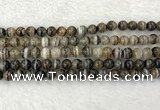 CAA2317 15.5 inches 8mm round banded agate gemstone beads