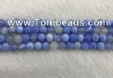 CAA2333 15.5 inches 8mm round banded agate gemstone beads