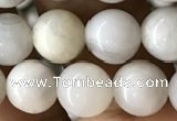 CAA2342 15.5 inches 8mm round white crazy lace agate beads wholesale