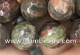 CAA2388 15.5 inches 12mm faceted round ocean agate beads wholesale