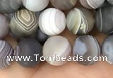 CAA2392 15.5 inches 6mm round matte Botswana agate beads wholesale