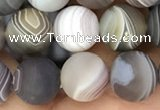 CAA2393 15.5 inches 8mm round matte Botswana agate beads wholesale