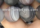 CAA2396 15.5 inches 14mm round matte Botswana agate beads wholesale