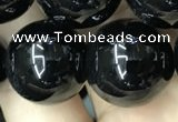 CAA2410 15.5 inches 20mm round black agate beads wholesale