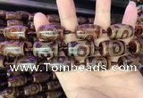 CAA2660 15.5 inches 14*25mm - 16*26mm drum tibetan agate dzi beads