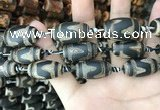 CAA2685 15.5 inches 13*25mm - 16*26mm drum tibetan agate dzi beads
