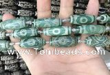 CAA2691 15.5 inches 12*30mm - 14*30mm rice tibetan agate dzi beads