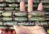 CAA2696 15.5 inches 14*38mm - 16*43mm rice tibetan agate dzi beads