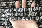 CAA2717 15.5 inches 14*38mm - 16*43mm rice tibetan agate dzi beads