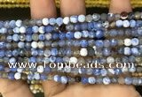 CAA2806 15 inches 4mm faceted round fire crackle agate beads wholesale