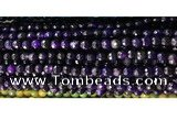 CAA2881 15 inches 6mm faceted round fire crackle agate beads wholesale